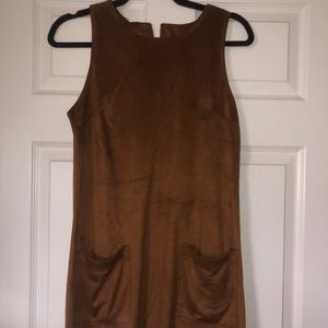 Forever 21 Brown Suede Dress